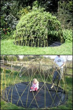 How To Build A Living Playhouse That Helps Kids To Understand Nature http://theownerbuildernetwork.co/1gjw Here's a fun and educational way to divert kids from the indoors to the great outdoors… help them to build a living playhouse! #buildplayhouse