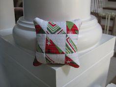 Modern Pincushion  Christmas Pincushion  Joy by MeadowMistDesigns, $10.00