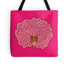 Bubble Gum Fly Handbag/ tote bag