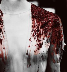 """""""blood"""" rubies, i dont like the blood reference but in another color this would be a good performance outfit Vampires, Julien Fournié, The Wicked The Divine, Hades And Persephone, Fashion Details, Fashion Design, Vogue, Red Queen, High Fashion"""