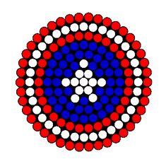 Captain America Shield 2 Perler Bead Pattern / Bead Sprite