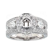 Natalie K 18k White Gold and Diamonds Engagement Ring