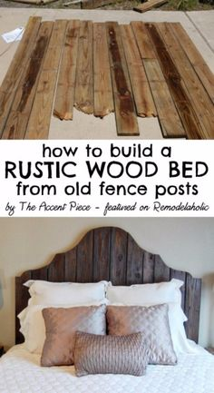 DIY Headboard Ideas - Reclaimed Wood Headboard Tutorial - Easy and Cheap Do It Yourself Headboards - Upholstered, Wooden, Fabric Tufted, Rustic Pallet, Projects With Lights, Storage and More Step by Step Tutorials http://diyjoy.com/diy-headboards