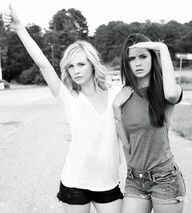 Candice Accola and Nina Dobrev Pose Together in Their Very First Photoshoot