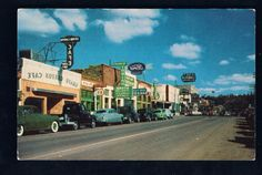Classic city. Town and stores. Railroad trackside structures, (reference photos for model railroad). Vintage photography.