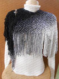 Adorei fazer este xale, achei super fácil e ficou muito lindo. Utilizei 1 novelo do fio Dual da Cisne e agulha 6 para tricô. A receita é da...