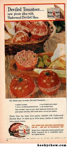 Load up your picnic basket with plenty of individually wrapped Deviled Tomatoes with Underwood Deviled Ham!