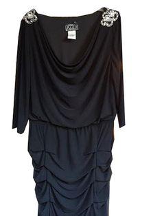 Alex Evenings Blouson Matte Jersey Dress Plus Size *** Awesome product. Click the image : Plus size fashion