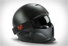 Another badass helmet by Ruroc, the Core features a beautiful matt black textured finish and a cool Darth Vader-style look. Designed for Freestyle skiers and Snowboarders, the helmet offers high levels of protection and comes complete with gog Biker Gear, Motorcycle Helmets, Ski Gear, Harley Night Train, Custom Helmets, Ex Machina, Custom Harleys, Helmet Design, Cool Motorcycles