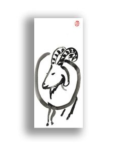 Ben. Year of the Goat Chinese Zodiac or Capricorn Astrology by ZenBrush, $20.00