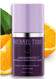 The Concentrated C Serum combines antioxidant vitamins E and C with blueberries, raspberry extracts, cranberries, lemons, organges and bilberries to have a soothing and moisturzing effect on irritable and/or dry skin. This antioxidant serum for the face also reverses premature aging and repairs damage from sun exposure, particularly with hyper-pigmentation and brown spots no the skin.