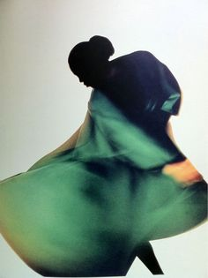 Naomi Campbell photographed by Nick Knight for Yohji Yamamoto, Fall campaign 1987.