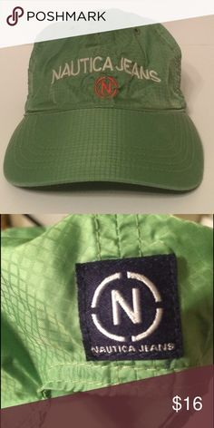 Nautica Jeans Nylon Cap Ripstop Nylon • Worn Once/Like New • Strapback Nautica Accessories Hats