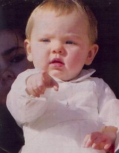 Princess Alexandra of Hanover, Miss Chubby Cheeks.  As an infant Alexandra mostly favored her father.  Only as she got older did she begin to show some of the Kelly/Grimaldi good looks.