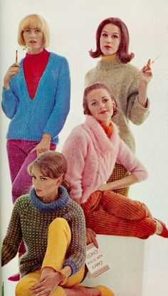Ladies Home Journal, October 1963. 1960s Fashion Women, Sixties Fashion, Vintage Fashion, Fluffy Sweater, Mohair Sweater, Turtleneck, 1960s Outfits, Vintage Outfits, Vintage Clothing