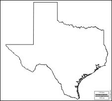 Texas : free map, free blank map, free outline map, free