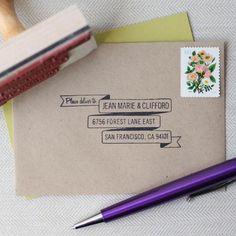 Ribbon Banner RSVP Stamp