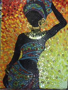 Mosaic by Craft at Fourways student, no tutoring this time only guidance on grouting colour. Fantastic piece or work took a month to complete.