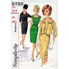1960s Wiggle Sheath Dress and Waist Length by BessieAndMaive, $14.00