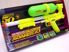 Super Soaker is a water gun that everyone wanted. It was the best water gun out there. And also it was fun to shoot your friends with water.