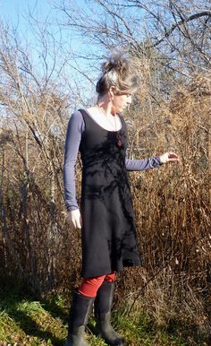 Organic Women's Clothing Organic Wool Tank Dress by woolenmoss