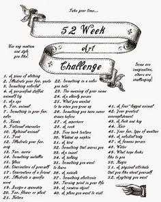 52 week art challenge!