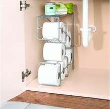 toilet paper storage under sink