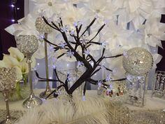 http://www.weddingrentalsonline.com/  wedding, weddings, crystal, feathers, centerpieces, white wedding