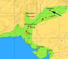 Extent and major sites of the Indus Valley Civilization. The shaded area does not include recent excavations. This map is a provisional outline of the Indus Civilization based on online sources. Bronze Age Civilization, Indus Valley Civilization, Cradle Of Civilization, Ancient Egyptian Art, Ancient History, Ancient Aliens, Hindu Kush, Mohenjo Daro, Harappan