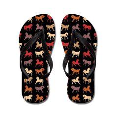 JKYUKO Funny Many Horse Print flip flops Adults M,Black * Visit the image link more details. #womensandals