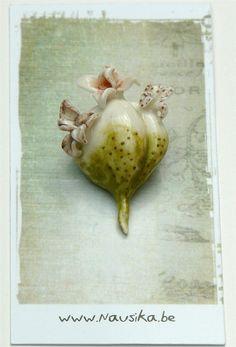 Porcelain flower bulb brooch atelier nausika