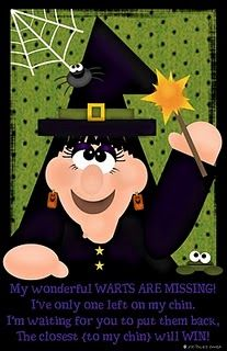 Pin the warts on Wanda the Witch game