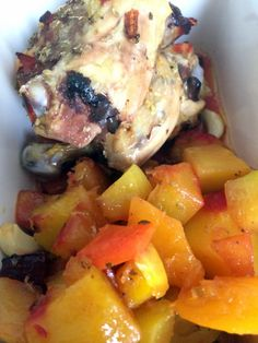 Baked Chicken and Vegetables.