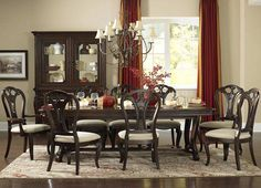 Hillsdale 4904DTBL5 Grandover Five-Piece Dining Set with Large Extension Table and Dining Chairs