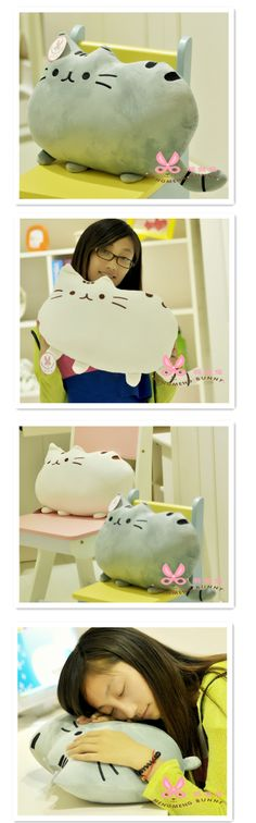 Creative cute big tail big face cat meow Star who plush pillow cushion toy doll birthday gift - Taobao