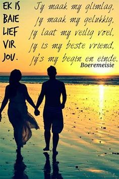 Jy's maak my gelukkig. Messages For Friends, Cute Messages, Love Life Quotes, Quotes For Him, Wedding Anniversary Quotes, Prayer For Husband, Love Is Cartoon, Afrikaanse Quotes, Distance Relationship Quotes