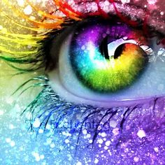 Augen Rainbow Eye Art - Jacot Wedding Bouquet: How To Make The Right Choice Choosing your wedd Rainbow Eyes, Rainbow Art, Rainbow Colors, Rainbow Magic, Pretty Eyes, Cool Eyes, Beautiful Eyes, No Bad Days, Look Into My Eyes