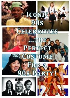 How many things on this list did you wear?? Take a stroll down memory lane to put together the perfect costume for any 90s Themed Party!