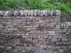 Lovely dry stone wall with shaped coping stones