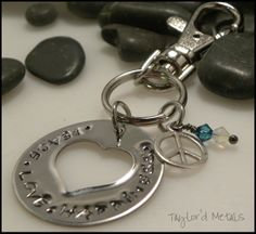 hand stampedstainless steel  by TaylordMetals on Etsy, $20.00
