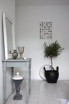 Zen simplicity, harmonic relation among objects, less is more ... and olive tree as symbol of my Mediterranean culture.