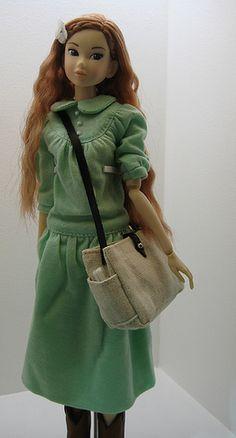#momoko7 Mint Green Dress, Bucket Bag, Bags, Dresses, Fashion, Handbags, Vestidos, Moda, Fashion Styles
