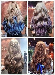 hair styles for long hair Date Hairstyles, Funky Hairstyles, Different Hairstyles, Braided Hairstyles, Beautiful Hairstyles, Cool Hair Designs, Natural Hair Styles, Long Hair Styles, Cool Braids