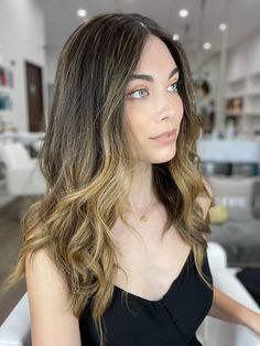With balayage Service by Laura Partial Balayage, Reverse Balayage, Remy Human Hair, Human Hair Wigs, Wig Styles, Long Hair Styles, Lob Styling, Hair Meaning, Long Hair Wigs