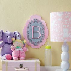 DIY Layered Initial Plaque for baby's room