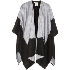 Balenciaga Cashmere and Wool Poncho ($1,025) ❤ liked on Polyvore featuring outerwear, grey, cashmere poncho, grey poncho, balenciaga, woolen poncho and wool poncho