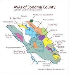 CALIFORNIA: AVAs of Sonoma County