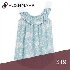 Ralph Lauren Denim & Supply floral off-shoulder. 💲PRICE IS FIRM💲BRAND NEW WITHOUT TAGS. Ralph Lauren Denim & Supply floral off-the-shoulder top. Color is dusty blue, the stock photos from Ralph Lauren look a little light to me. Tag says medium but can fit a small. I think this top runs a little small.                                           🚫TRADES🚫PP🚫MERCARI🚫 Denim & Supply Ralph Lauren Tops