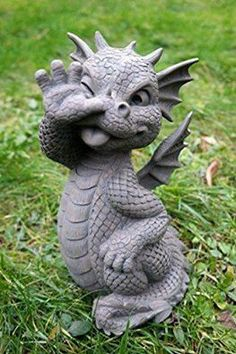Dragon yard art