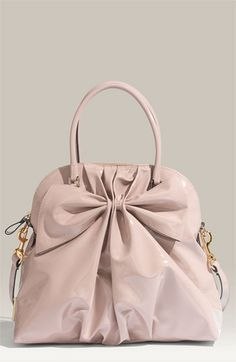 Valentino 'Bon Bon Dome Bow' Patent Leather Satchel